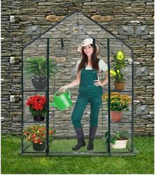 Compact Walk In Greenhouse Mini Plastic Patio Small Indoor Kit Outdoor Portable