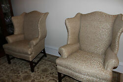 Sherburne Wing Chairs Pair (2)  from Stickley Audi