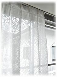 Japanese-made pile design mirror lace curtain [LUXE Luxe] one 200  176 size PO