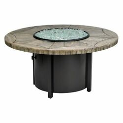 Carmel Round LP Fire Pit with 48