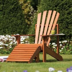 Rowlinson Garden Products Wood Adirondack Chair and Ottoman A115