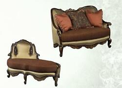 Benetti Abrianna Chenille Luxury Chair And A Half Chaise Lounge Set 2Ps Sp Order