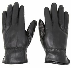 Women#x27;s Winter Warm Black Genuine Leather Gloves Insulation Lambskin Gloves $12.99