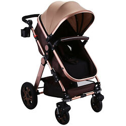 Foldable Newborn Baby Stroller Buggy Pram Pushchair Carriage Infant Travel Car