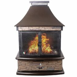 Lava Heat Italia Portable Backyard Patio Chimney Lorenzo fireplace fire pit
