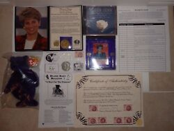 PRINCESS DIANA COMMEMORATIVE PACKAGE SET COIN BEANIE ROYAL NICKEL SILVER OFFER $65.00