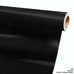 3M DI-NOC CA-421 BLACK Carbon Fiber Vinyl Sheet Wrap Film 24
