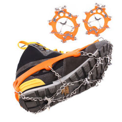 8 Teeth Outdoor Shoes Crampons Ice Spikes Climbing Ice Grippers Snow Grips Claws $13.69