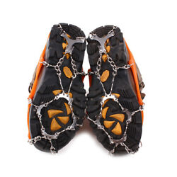 12 Teeth Climbing Hiking Shoes Crampons Snow Ice Spikes Grippers Shoe Grips $18.29