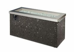 Key Largo Crystal Fire Pit with SS Top and Grey Tereneo Base
