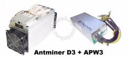 *** BRAND NEW *** Antminer D3 19.5 GHs X11 DASH  with PSU APW3++ $2,300.00