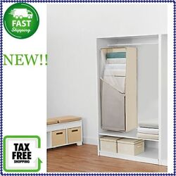 Real Simple 5 Layer Hanging Blanket Storage Organizer In Natural NEW!!