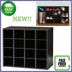 Real Simple Large Shoe And Boot Storage Organizer In Espresso NEW!!