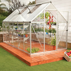 6x14 Greenhouse Aluminum Frame All Weather Walk-In Nursery Polycarbonate Panels