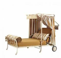 Pavilion Patio Outdoor Exterior Double Chaise Lounge Chair Bed
