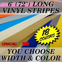 72 Vinyl Racing Stripe Pinstripe Decals Stickers *20 COLORS* Rally Stripes $9.99