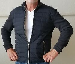 Tom Ford  Merino  Down Quilted Zip Front Cardigan