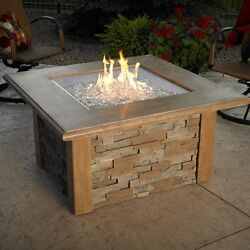 Outdoor Greatroom Sierra Square Chat Height Fire Pit Table New - Deals!