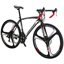 700C Road Bike Shimano 21 Speed Cycling Bicycle Disc Brakes Racing 49cm Complete $329.00