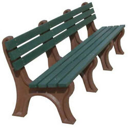 Econo-Mizer 8 Ft. Backed Bench Green BenchGreen Frame Lot of 1