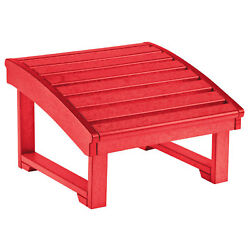 Recycled Plastic Upright Adirondack Chair Pull Out Footstool Red 32
