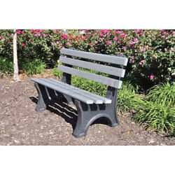 6' Central Park Bench Recycled Plastic Gray Lot of 1