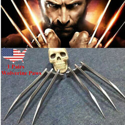 US 2Pcs X Men Wolverine Logan Blade Claws Paws Mens Halloween Cosplay Props HOT $12.99