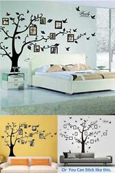 Family Tree Wall Photo Frame Set Picture Collage Home Bedroom Stencil Decor New