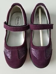 New Stride Rite Leather Blaire Purple Girl Size 11M $32.99