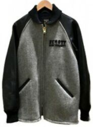 Used Schott Wool jacket gray black 38 M Tracking ship