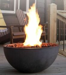Kingsman Outdoor Gas Fire Pit Propane Patio Heater Fire Bowl Durable Natural Gas