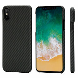 PITAKA For iphone X 360° Magnetic Car Mount and Aramid Carbon Fiber Phone Case