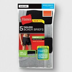 5pk Hanes TAGLESS Boxer Briefs MLXL Comfort Soft With Flex Waistband  $14.99
