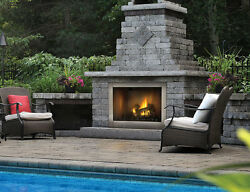 Napoleon GSS42 Outdoor Gas Fireplace Stainless Steel Riverside