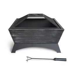 Outdoor Fire Pit Bowl Portable Heater Patio Backyard Deck Fireplace