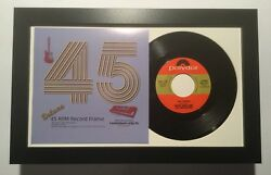45 rpm vinyl record and sleeve display picture frame white mat
