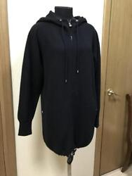 AUTH CHANEL BLACK CASHMERE KNIT CARDIGAN AND SWEATER HOODED COAT JACKET 44 EU