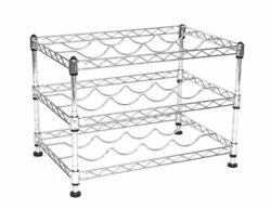 Seville Classics 12-Bottle Stackable Wine Rack 11.5-inch by 17.5-inch by 12-inch