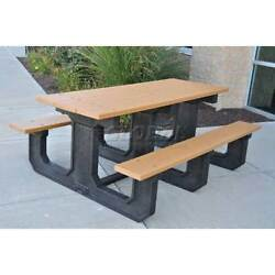 Recycled Plastic 8 Ft. Park Place Picnic Table Green Lot of 1
