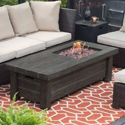 Propane Fire Pit Table Fireplace Outdoor Top Patio Backyard Cooking BBQ Firepit
