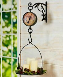 Primitive Antiqued Farm Market Kitchen Vintage Metal Hanging Mercantile Scale $36.85