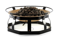 Camco 29-Inch Portable Deluxe Outdoor Fire Pit 65000 BTU's Includes 10 Foot