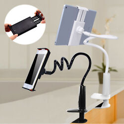 360° Flexible Long Arm Lazy Stand Clip Holder For iPhone Tablet iPad Desktop Bed GBP 4.89