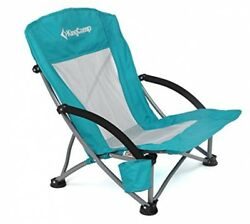 Low Sling Beach Camping Folding Chair Mesh Back Outdoor Patio Furniture Chairs