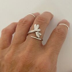 Sterling Silver Beautiful Dragonfly Ring Silver Ring Spirit Ring