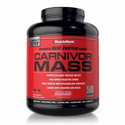 MuscleMeds CARNIVOR MASS 6 lbs Anabolic BEEF PROTEIN Gainer - Pick Flavors