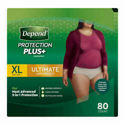 Depend FIT-FLEX Underwear for Women Size: XLarge - 80Ct - Free Shipping! $49.88