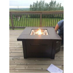 Outdoor Patio Heater Propane Gas Fire Pit Deck Table Furniture Fireplace Firepit