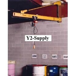 NEW! HD Wall Bracket Jib Crane 20' Span & 200° Rotation 10000 Lb Capacity!!