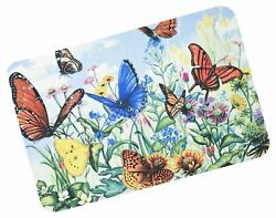 Butterfly Flower Garden Washable Plastic Vinyl Placemats Set of Four